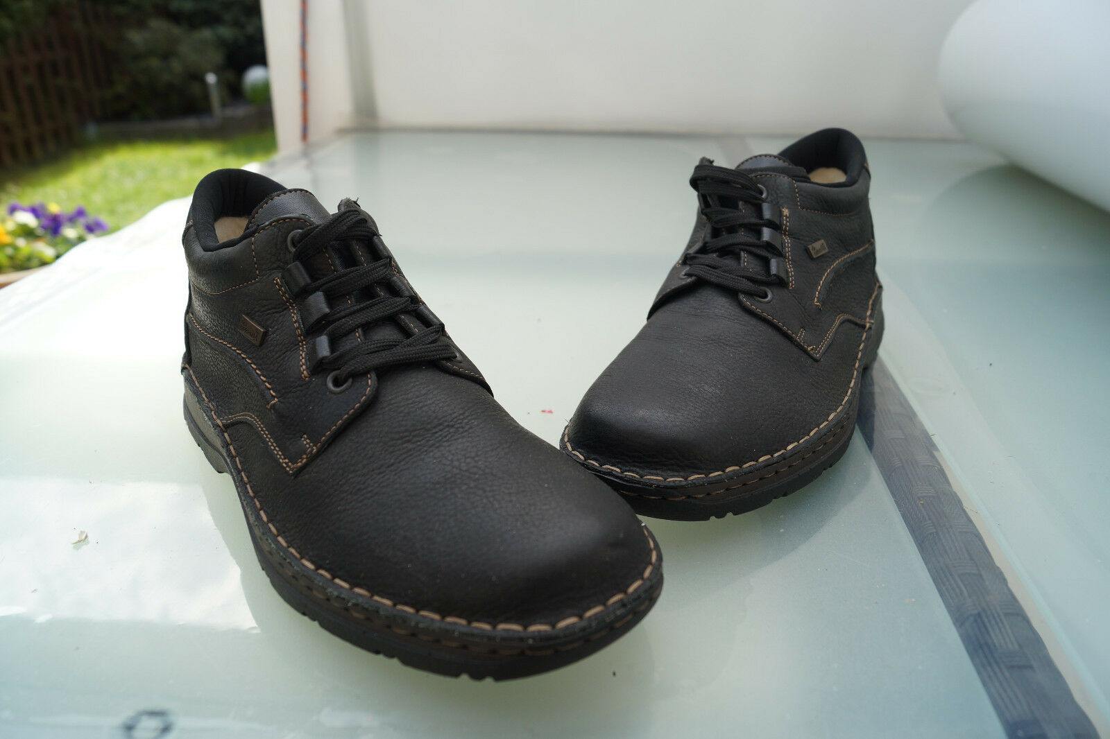Rieker Riekertex Winter shoes Boots Lined Gr.41 Black Leather New