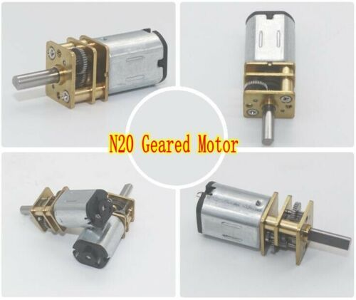DC6V 30rpm~2000rpm Micro GA12-N20 Speed Reduction Gear Motor Metal Gearbox Wheel
