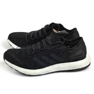 Image is loading Adidas-PureBoost-PrimeKnit -Black-Black-White-Lightweight-Running- b0ca163e7755