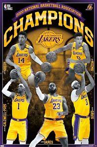 EBAY EXCLUSIVE - NBA Los Angeles Lakers - 2020 NBA Finals Champions Poster