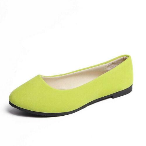 Details about  /Womens Comfort Casual Pumps Loafers Ladies Slip on Flats Pointed toe Boat Shoes