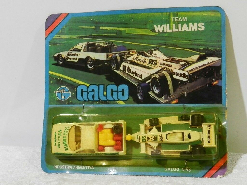 F1 TEAM SAUDIA WILLIAMS DIE-CAST METAL BRAND GALGO 80'S 1 64 BOYS
