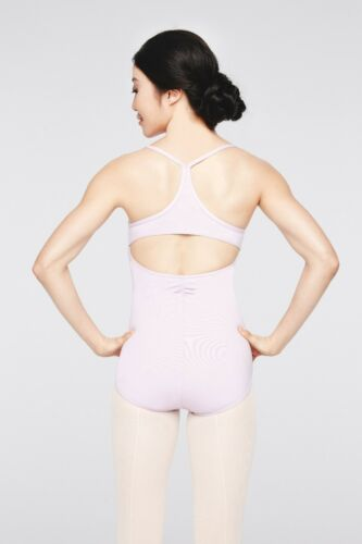 NWT CAPEZIO pink CAMISOLE LEOTARD cottonspandx  frontlined CC861 ch//ladies sizes