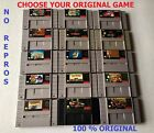 SNES Games Choose your AUTHENTIC Favorite GAME (Mario Kart,Zelda,F-Zero etc.)