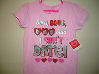 Valentine's Day Toddler Girl sorry Boys, Dad Said I Top/t-shirt, Size 5t