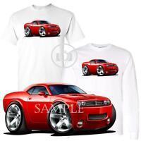 Dodge Challenger Rt Generation Red Car Modern Graphic Art White T Shirt