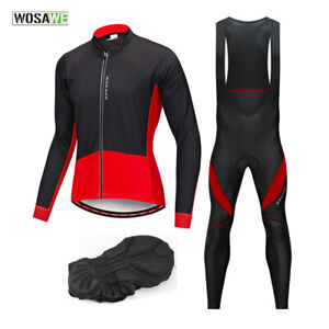 Men-Cycling-Sets-Long-Sleeve-Thermal-Fleece-Jersey-Bib-Tights-Padded-Sport-Pants
