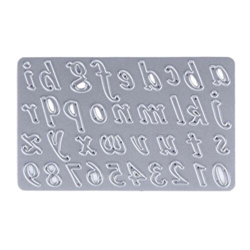 Number//Letter DIY Metal Cutting Dies Scrapbooking Christmas Stencil Craft Decor