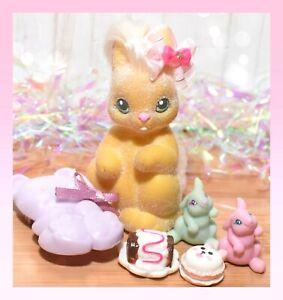 ❤️Vtg Li'l Lil Litters My Little Bunny Pony MLP FANCY FLOPPY Mommy Baby Rabbit❤️