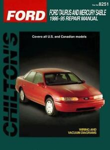 total car care repair manuals ford taurus and sable 1986 95 by rh ebay com 2000 Taurus 1998 Ford Taurus Review