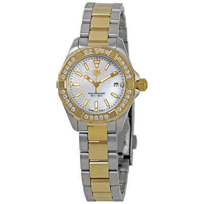 Tag Heuer Aquaracer Ladies 18K Yellow Gold and Steel Watch WBD1421.BB0321