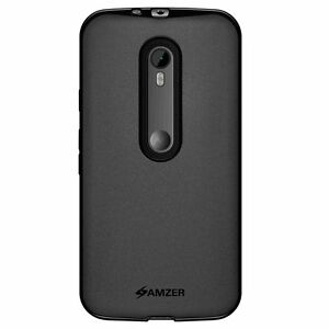 Amzer-Black-Pudding-Matte-TPU-Skin-Case-Cover-For-Moto-G-3rd-Gen-Turbo-Edition