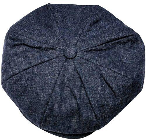 Peaky Blinders Oversized Hat Newsboy Big Apple Gatsby Cap Flat Baker Boy Blue