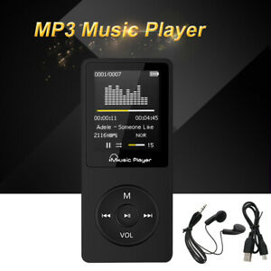 Tragbarer Neu MP3 Player,8GB,FM Radio,80 Stunden Wiedergabe,Hea