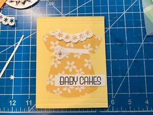 Baby-Girl-Card-Soft-dress-glitter-waist-flower-pearl-lattice-back-handmade