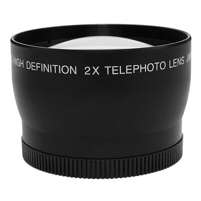 58mm 2.0X Magnification Tele Telephoto Lens for Digital DSLR SLR Camera  2X 58