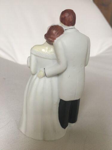 EUC Made in Japan Beautiful Vintage Bisque Wedding Cake Topper
