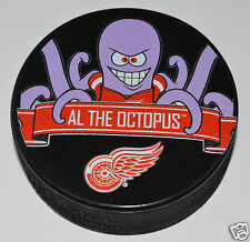 Detroit Red Wings Mascot Al the Octopus Team Logo SOUVENIR HOCKEY PUCK NHL NEW