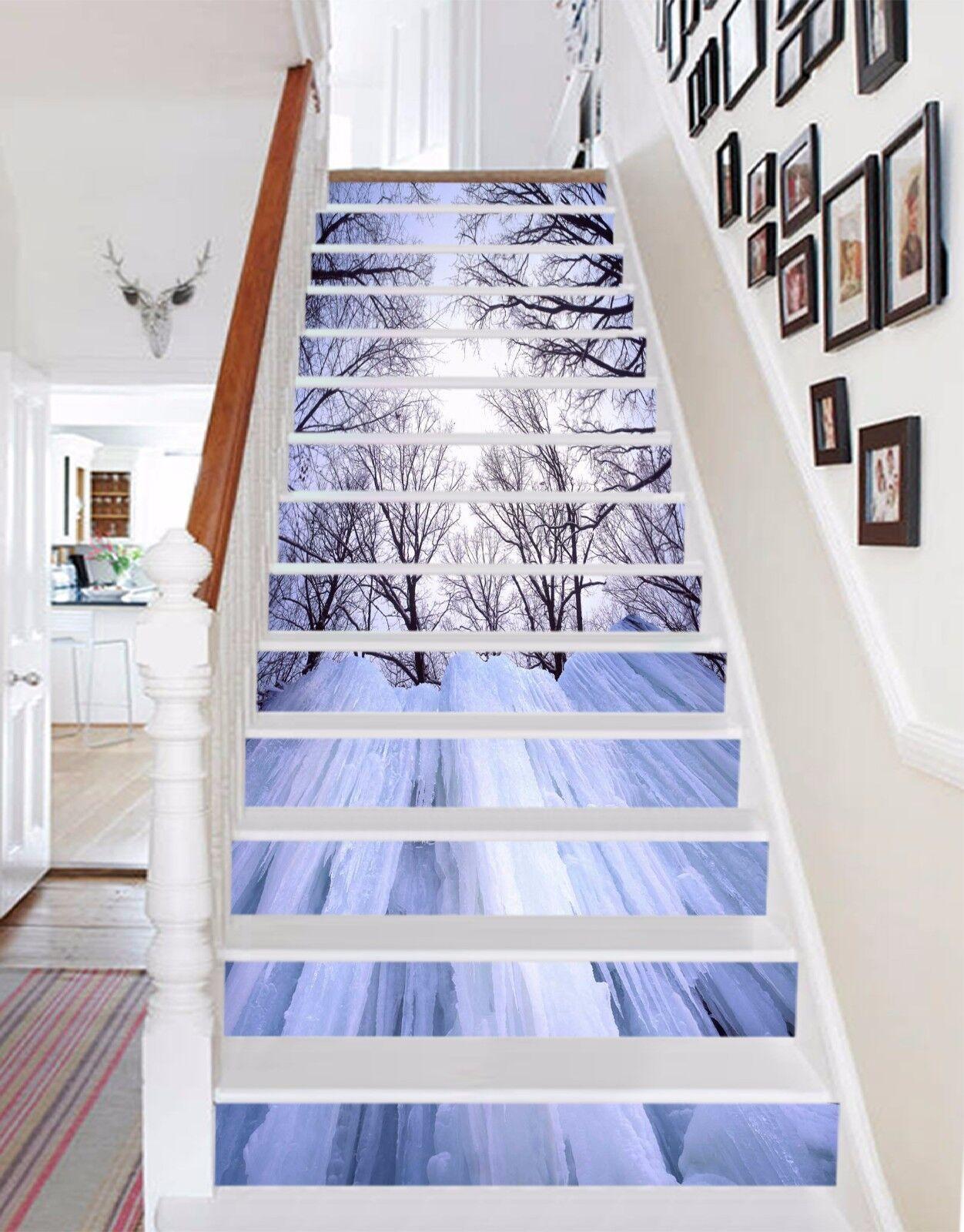 3D Tree snow 337 Stair Risers Decoration Photo Mural Vinyl Decal Wallpaper UK