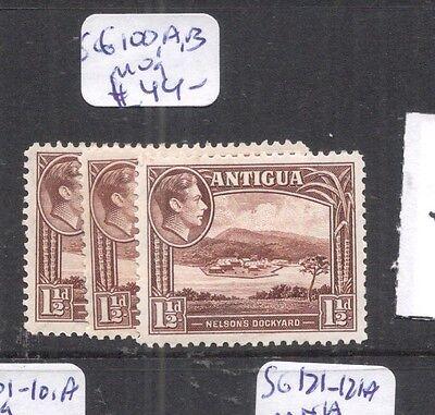 Kgvi 1 1/2d Sg100 b1201 100a Antigua 100b Mog