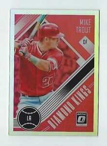 Details About Mike Trout 2018 Panini Donruss Optic Baseball Card 13 Diamond Kings Prizm