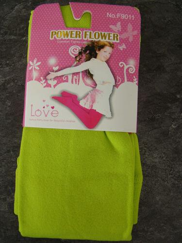 Power Flower Uni THERMO Strumpfhose  Winter Hose m Fleece Neu 1-12 Jahre,Neu
