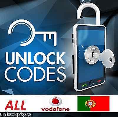 UNLOCK all VODAFONE PORTUGAL sony nokia lg huawei etc- ALL MODELS - NO IPHONE -