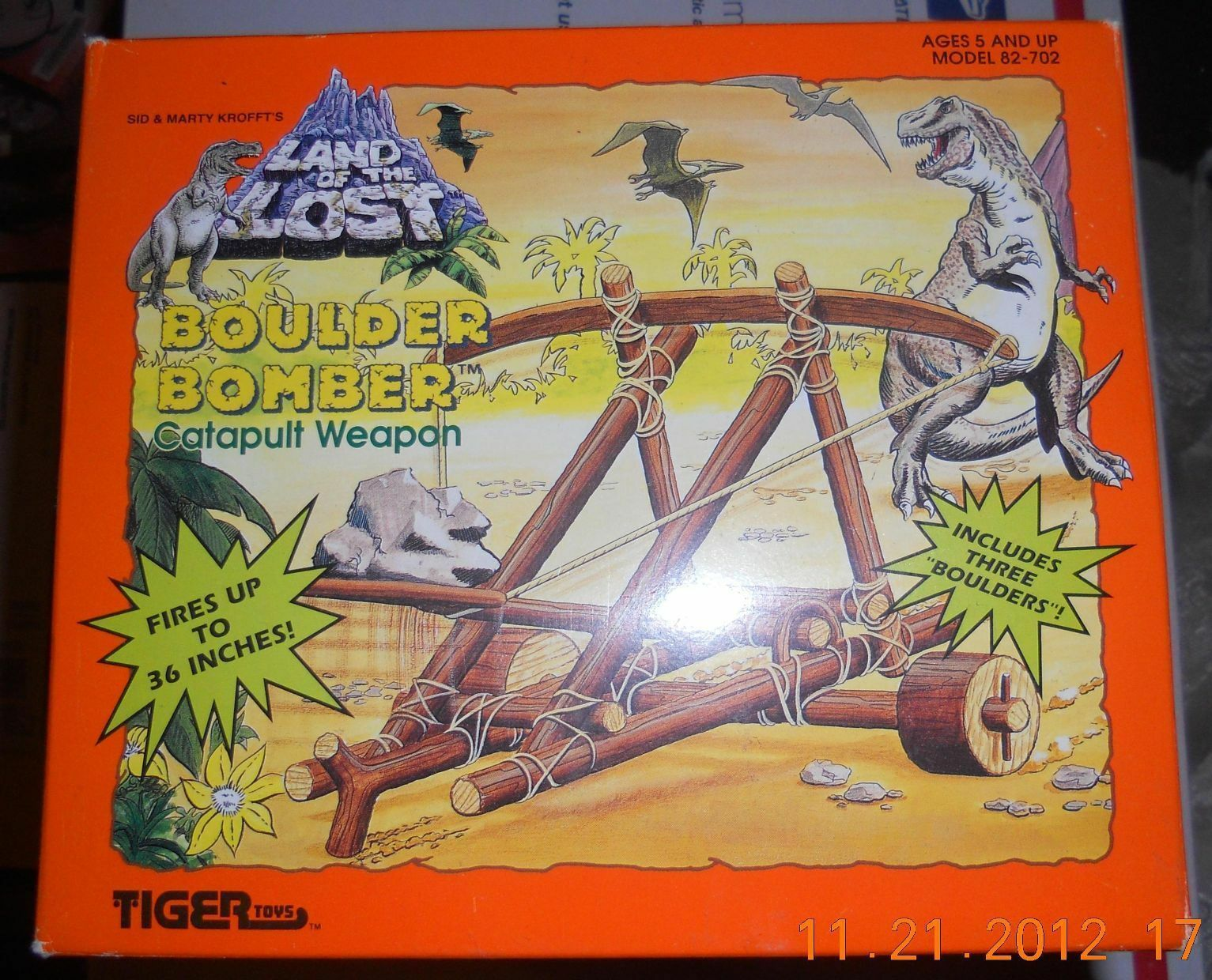 1992 Tiger Toys Sid & Marty Krofft Land of the Lost Boulder Bomber RARE