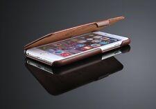 iPhone SE/5s/5 Flip echte  Leder Luxus Case Braun  Schutzhülle,Tasche,Cover 1A