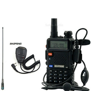 Baofeng-UV-5R-Dual-Band-VHF-UHF-FM-Walkie-Talkie-Nagoya-NA-771-Antenna-uv-5r-Mic