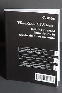 Canon powershot g1x mark ii camera instruction book / manual.