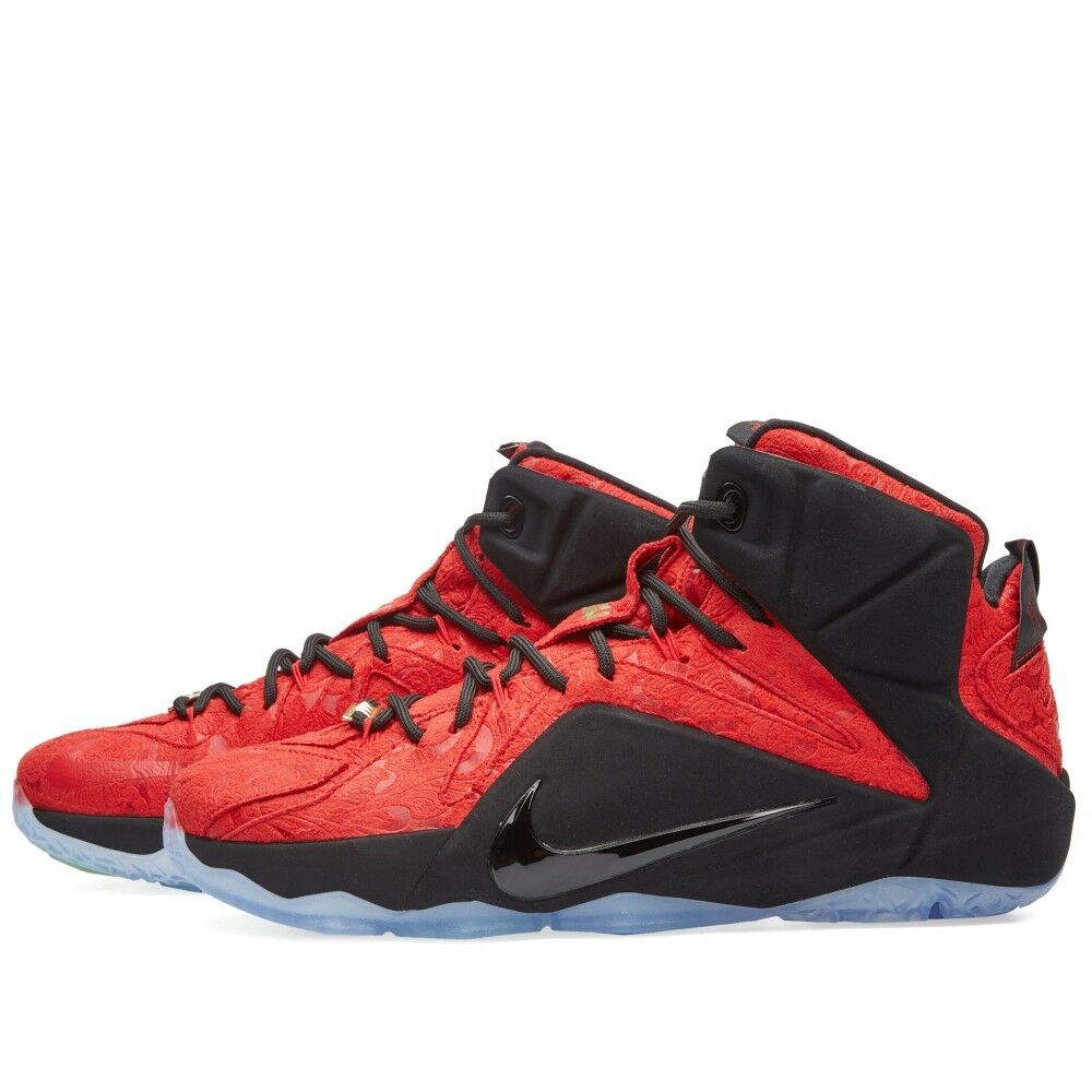 Nike LeBron 12 XII EXT Red Paisley Comfortable Casual wild