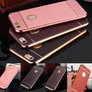 iPhone 6s 8 7 Plus Case Slim Luxury PU Leather Ultra-Thin Soft TPU Cover F Apple