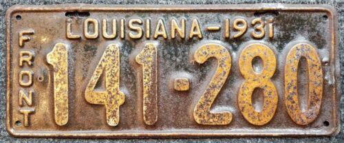 Louisiana License Plate RESTORATION SERVICE 1915 1928 1931 1939 1949 1954 1967