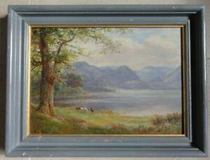 William-Lakin-Turner-1867-1936-Original-LAKE-DISTRICT-signed-OIL-PAINTING