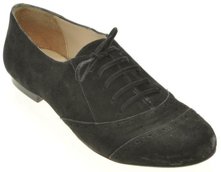 nuovo BOUTIQUE 9 donna Suede Blk Loafer Pump Oxford Lace Up Comfort sautope Sz 10 M