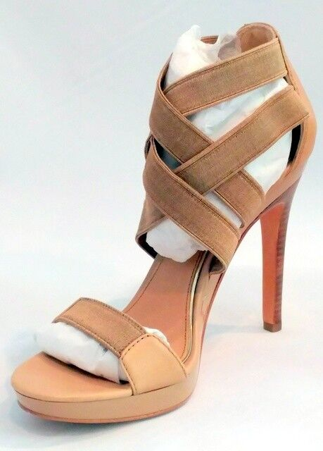 MARK &JAMES by BADGLEY MISCHKA MALIE TAN STRAPPY PLATORM SANDALS  8  2 M  comprare sconti