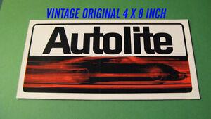 VINTAGE-ORIGINAL-AUTOLITE-DECAL-STICKER-SCCA-TRANS-AM-RACING-NASCAR-FORD-MUSTANG