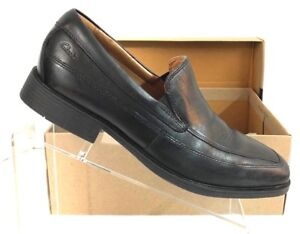 85a1b16a426ab Details about Clarks Men s Tilden Free Black Leather Loafers Shoe Size 9M