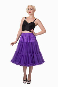 Purple 50/'s Rockabilly Super Soft 26 inches Petticoat Skirt By Banned Apparel