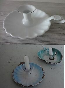 Kerzenstaender-weiss-Emaille-Nachtwaechter-Staender-Jeanne-d-arc-living-Shabby-Chic