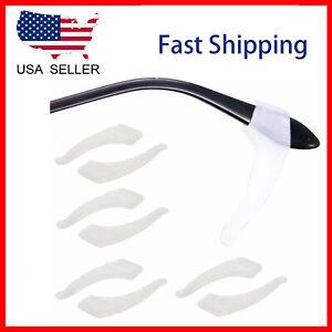 4 Pair Clear Slip Glasses Ear Hooks Tip glasses Grip Temple Holder Silicone US