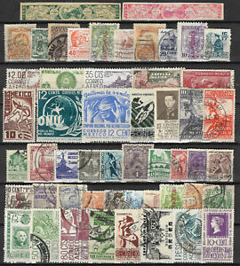 MEXICO-STAMP-COLLECTION-PACKET-of-50-DIFFERENT-Used-Stamps-NICE-SELECTION