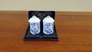 Dollhouse Miniature Floor Ashtray with Cigar Reutter Porcelain 1:12 Scale Decor