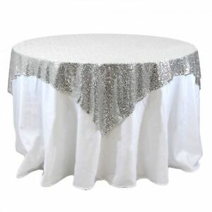 Sequins table overlay 54x 54 sparkly tablecloth 4 colors wedding image is loading sequins table overlay 54 034 x 54 034 junglespirit Choice Image