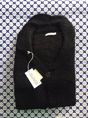 Cardigan Sun 68 Donna - Over 1 Bottone - Nero - 27267 Rendere Le Cose Convenienti Per Le Persone
