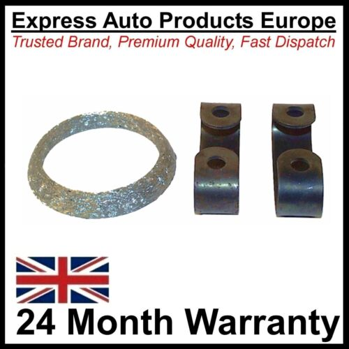 Exhaust Front Pipe Gasket Ring VW 161253115 and Clamps 191253111 x 2