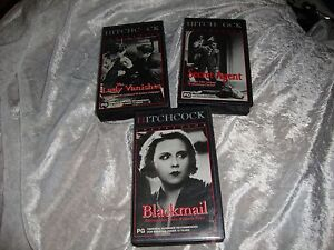 HITCHCOCK-COLLECTION-3-VHS-SECRET-AGENT-THE-LADY-VANISHES-BLACKMAIL-NEW-RARE