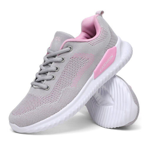 Ladies Womens Trainers Gym Lace Up Lightweight Memory Foam Running Sneakers Size