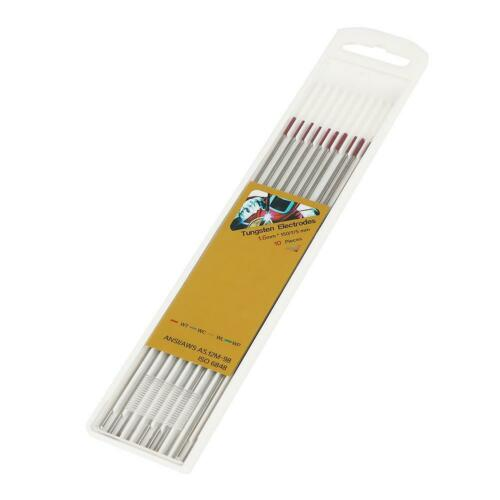 Hot 10pcs 150mm Tungsten TIG Electrodes Set For Pipeline Stainless Steel Welding